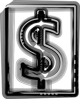 Dollar Striped Symbol