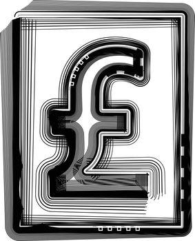 POUND Striped Symbol