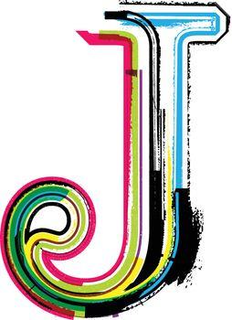 Colorful Grunge LETTER J