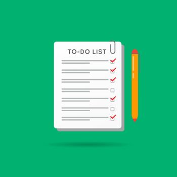 Vector To-Do List or Checklist Icon. Can be used as Logo.