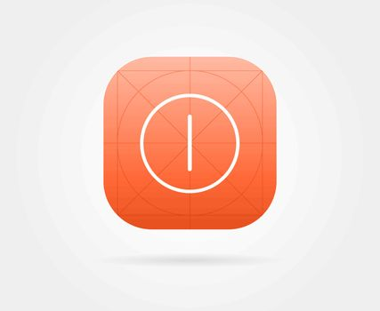 App Icon Template with Guidelines. Vector Fresh Colour