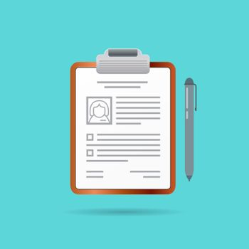 Curriculum Vitae Recruitment Candidate Job Position Vector Illustration