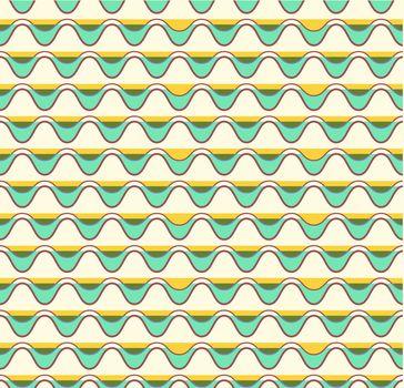 Seamless Retro Vintage Pattern in Vector