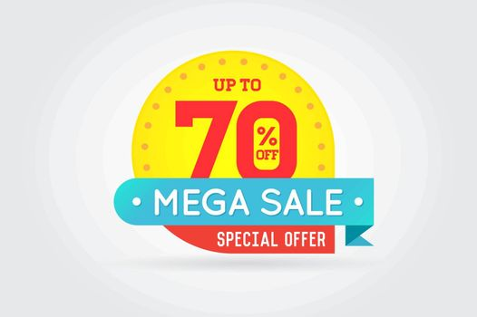 Sale Sign Banner Poster ready for Web and Print. Vector. Super, Mega, Huge Sale with Special Offer