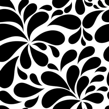 Floral Seamless Pattern Background for Wedding and Birthday. Vector Illustration