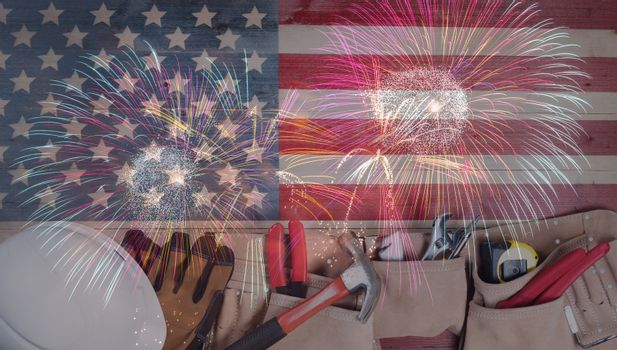 Labor Day holiday concept for United States of America with work