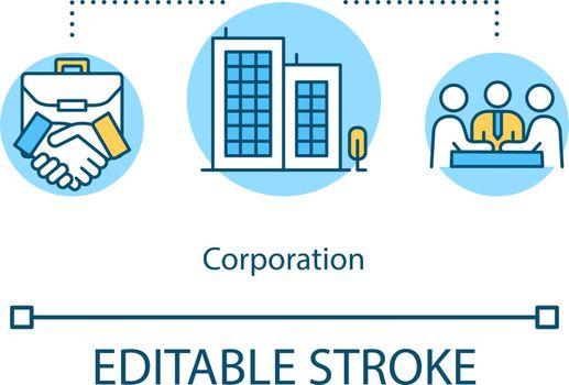 Corporation concept icon