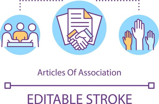 Articles of association concept icon