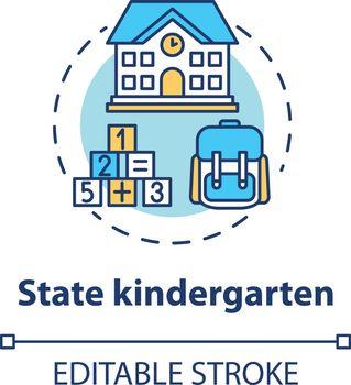 State kindergarten concept icon