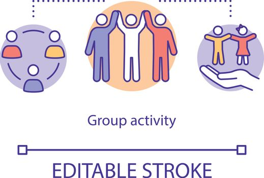 Group activity concept icon