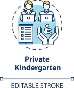 Private kindergarten concept icon