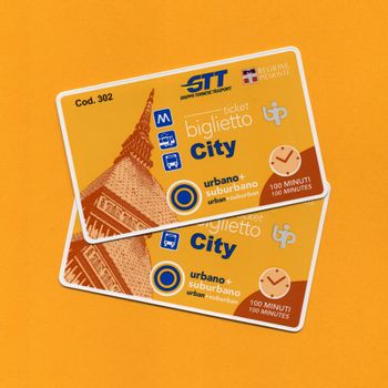 TURIN, ITALY - CIRCA SEPTEMBER 2018: City tickets for urban and suburban travel on bus tram and metro