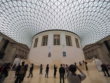 LONDON, UK - CIRCA SEPTEMBER 2019: The Great Court at the British Museum designed by architect Lord Norman Foster