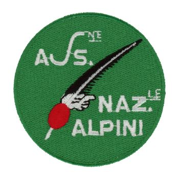 MILAN, ITALY - CIRCA DECEMBER 2019: Roundel of Associazione Nazionale Alpini (meaning National Alpines Society)