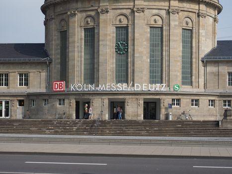 Messe Deutz station in Koeln
