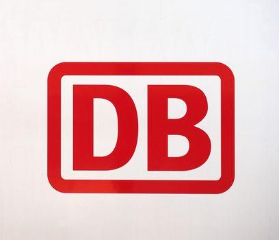 DUeREN - AUG 2019: Deutsche Bahn sign