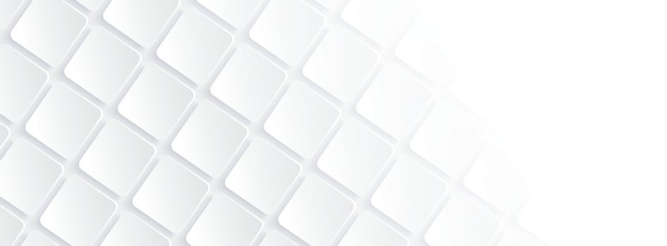 White geometric square background in paper art style. Use for banner, website cover, print ads.