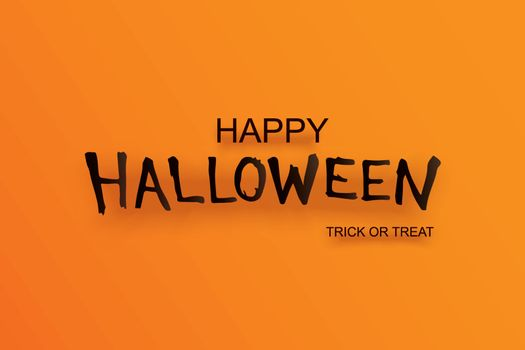 Halloween party invitation with text on orange background. Desig