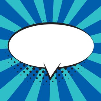 Comic speech bubbles on colorful background and halftone shadows