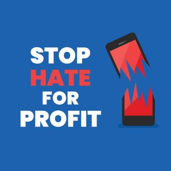 Stop hate for profit banner