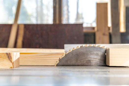 saw for wood cutting in carpentry