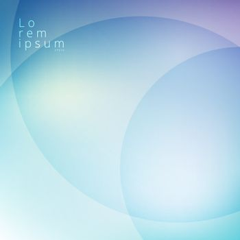 Abstract blue sky blurred with circles overlay background. Vector illustration