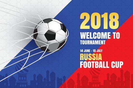 Football 2018 world championship background of soccer sport desi