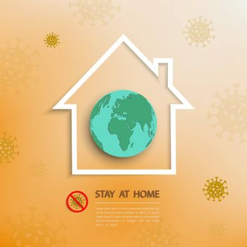 Stay at home,work at home during outbreak of covid-19 concept,vector illustration