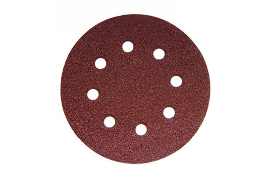 sandpaper with holes isolated on white background