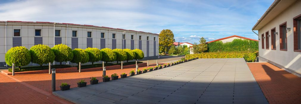 Shabo, Ukraine 09.29.2019. Modern winery in Shabo village, Odessa region, Ukraine, on a sunny autumn day