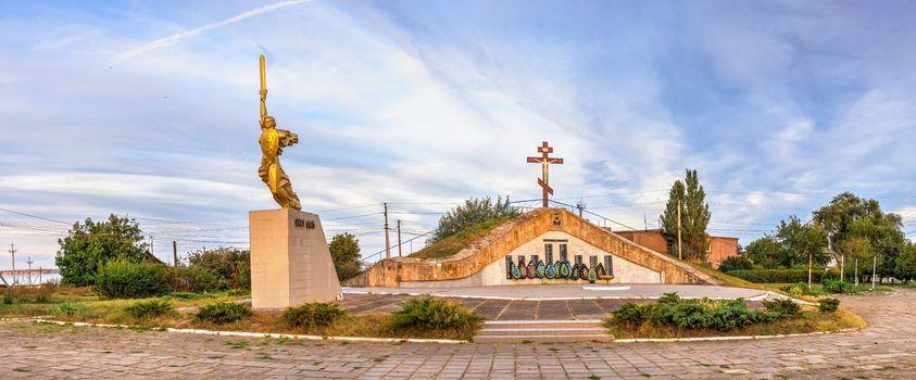 Shabo, Ukraine 09.29.2019. Memorial sign to fallen fellow villagers in the Shabo village, Ukraine