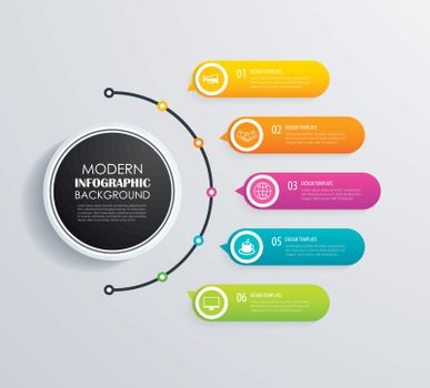 Timeline 5 infographic design vector and marketing icons.Can be