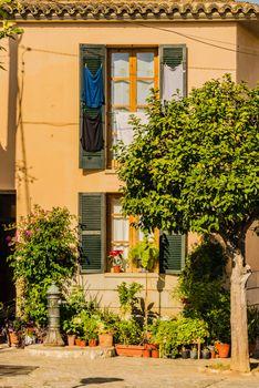 Idyllic scene of mediterranean house on Majorca island, Spain