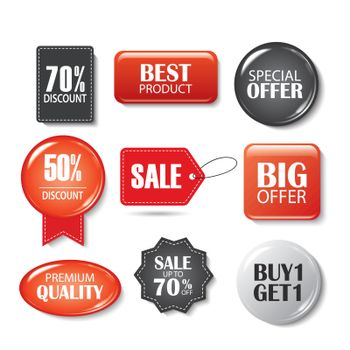Set of sale sticker. Product promotions. Special offer