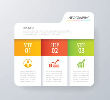 Infographic tab index design vector and marketing template busin