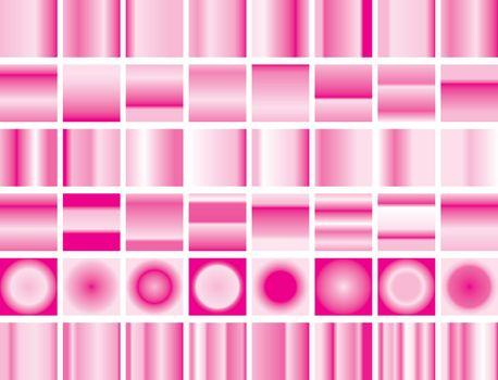 valentine gradient pink background set