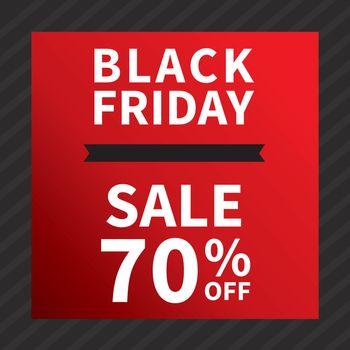 Black friday sale banner design template background.