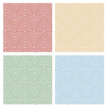 Multicolored Hypnotic Background Seamless Pattern.