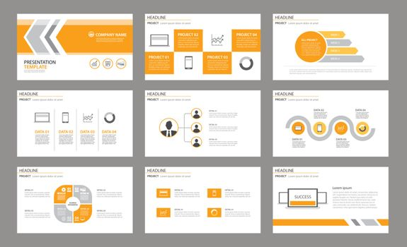 Set of presentation template.Use in annual report, corporate, fl