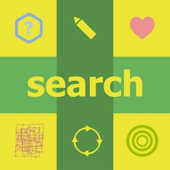 Text Search. Business concept . Can be used for workflow layout, diagram, business step options, banner