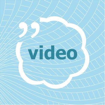 Text Video. Technology concept