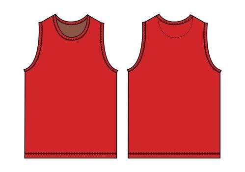 Tank top, sleeveless shirt template illustration