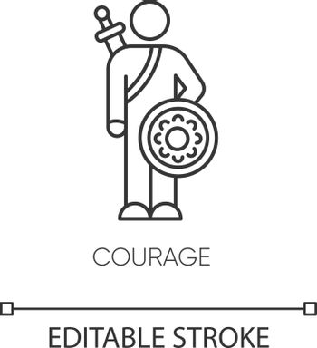 Courage pixel perfect linear icon