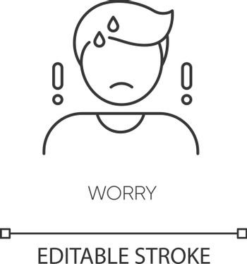 Worry pixel perfect linear icon