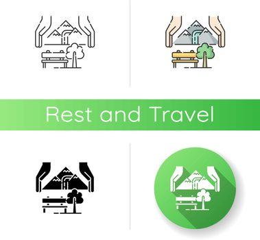 Sustainable tourism icon