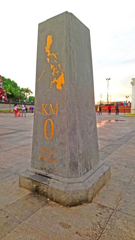 Kilometer zero marker in Manila, Philippines