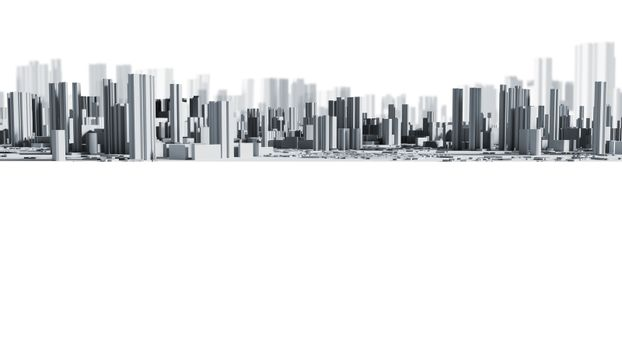 Smart city design background with copy space 3d render