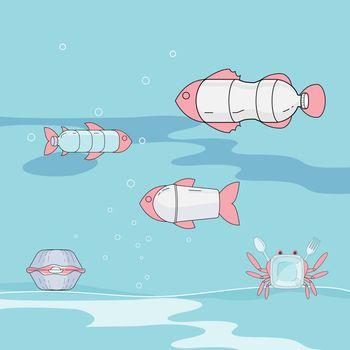 Plastic Marine Creature