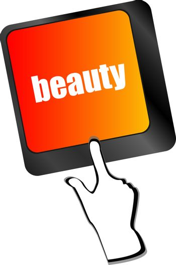 enter keyboard key button with beauty word on it,