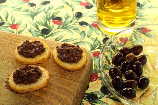 Olive pate on toast